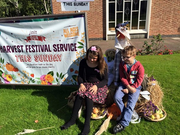 Harvest festival scarecrows