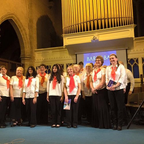 The singers as part of Barnabas at Christ Church Congregational