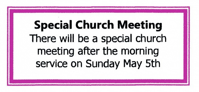 Special Church Meeting.