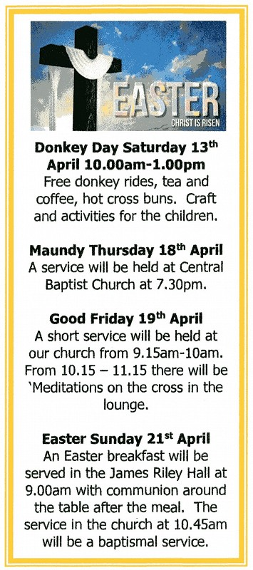 Easter events 2019.